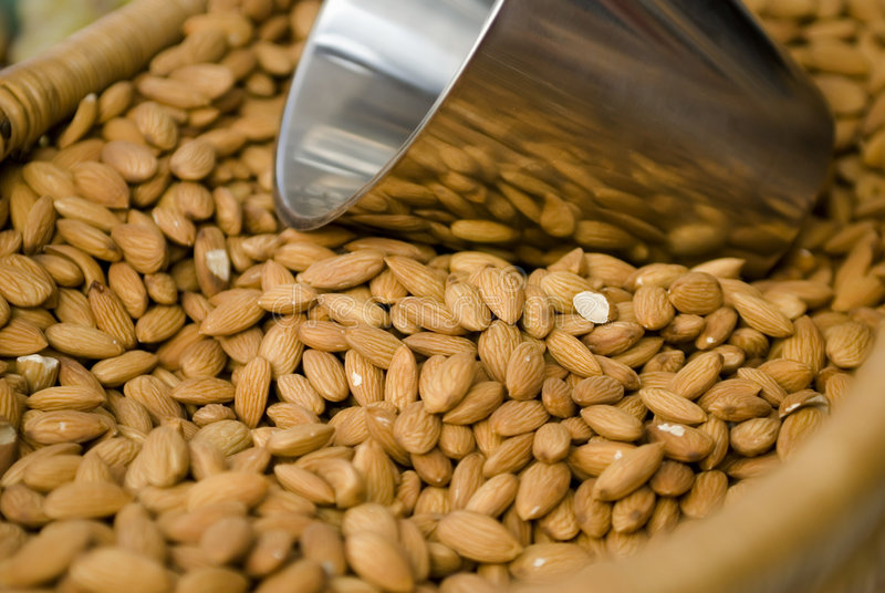 Bulk Almonds royalty free stock photos