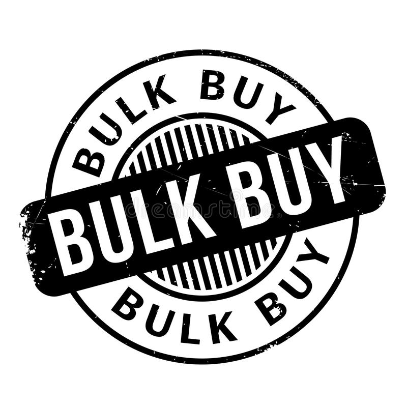 Bulk Buy rubber stamp. Grunge design with dust scratches. Effects can be easily removed for a clean, crisp look. Color is easily changed royalty free stock photography