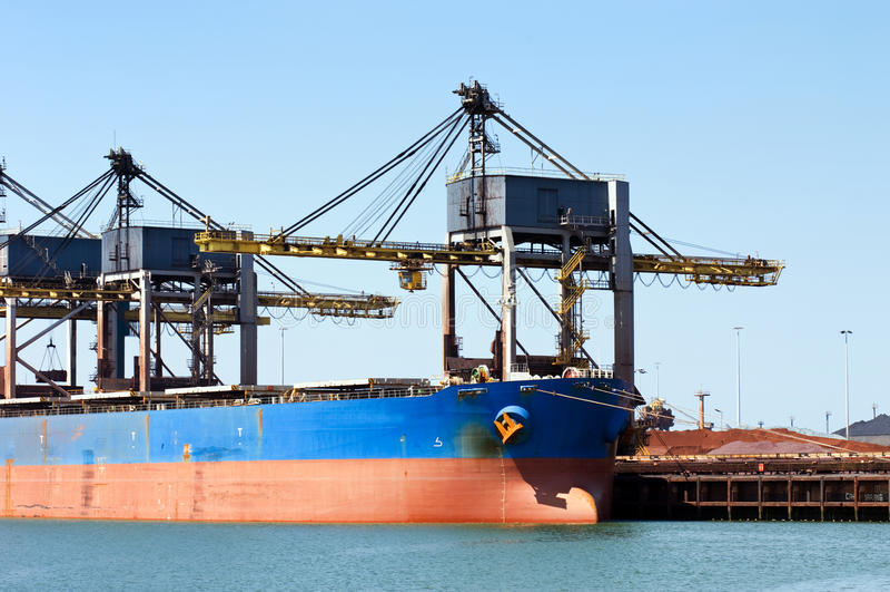 Bulk carrier royalty free stock photo