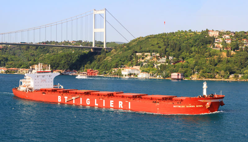 Download Bulk carrier ship editorial stock photo. Image of bosphorus - 26012293