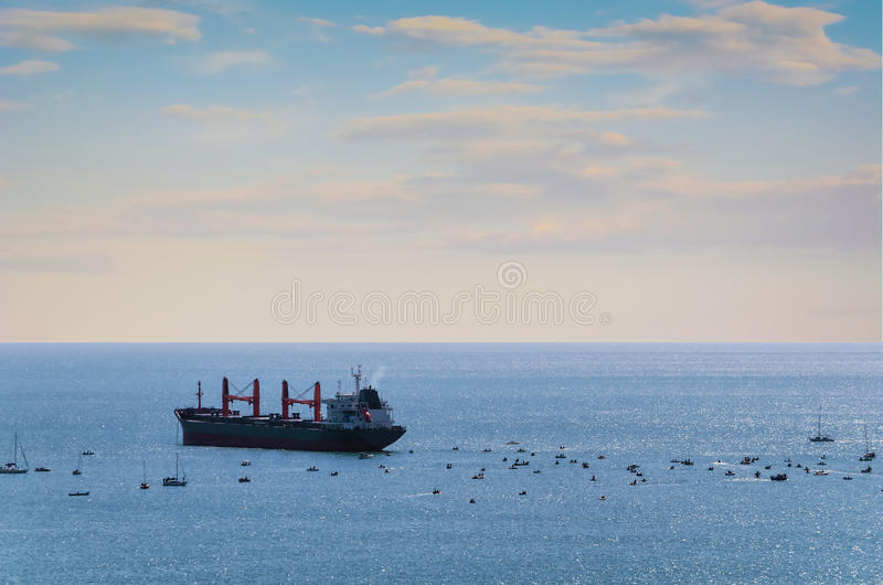 Bulk Carrier Ship royalty free stock photos