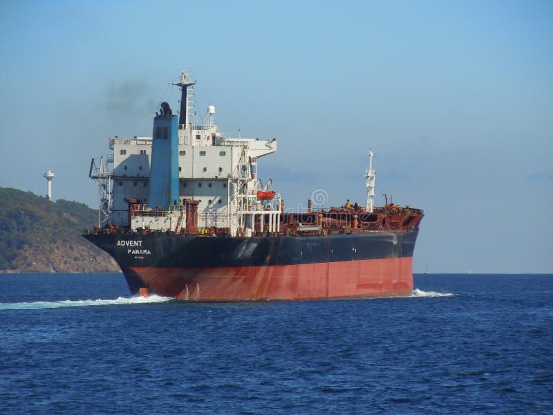 Bulk Carrier in transit stock photos