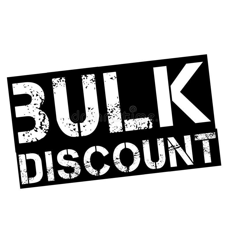 Bulk discount stamp on white vector illustration