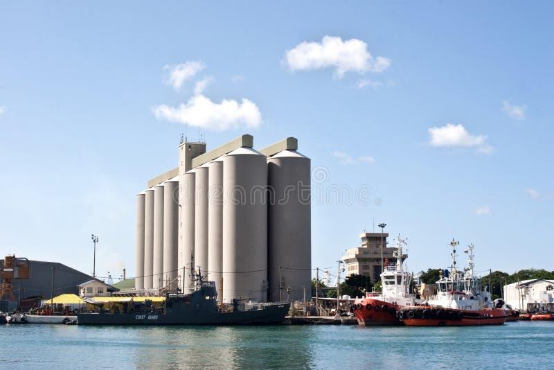 Bulk Sugar Terminal Mauritius stock photos