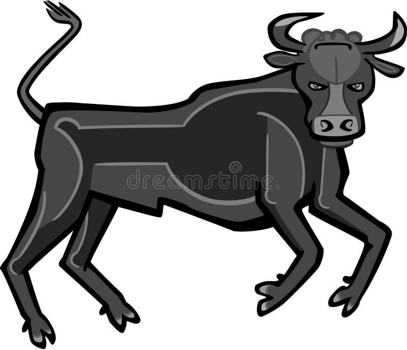 Bull με το σχέδιο στοκ εικόνες