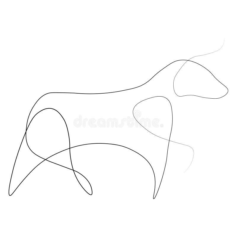 Bull μια γραμμή απεικόνιση αποθεμάτων