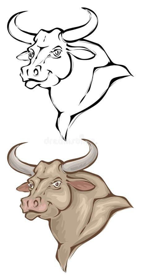 Bull ilustração do vetor