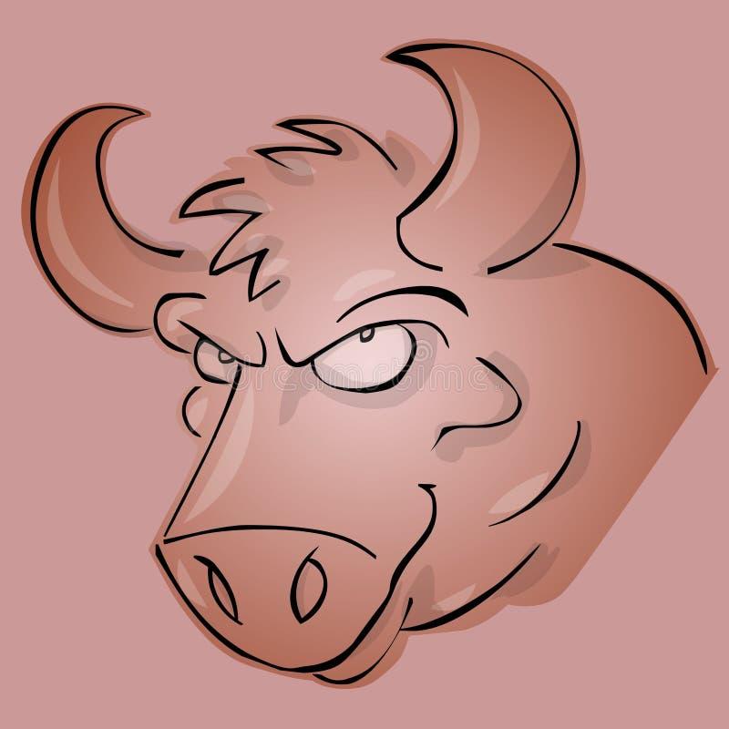 Download Bull stock illustration. Illustration of black, funny - 7172176