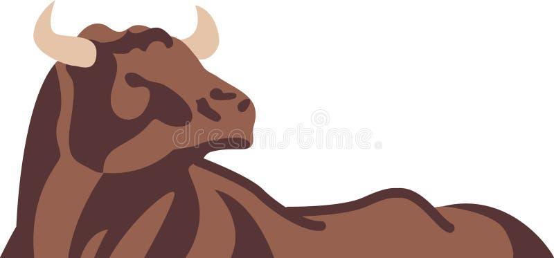 Bull abstrata ilustração stock