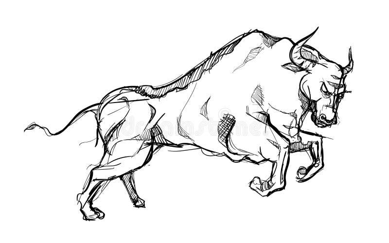 bull-animal-strong-power-matador-hand-dr