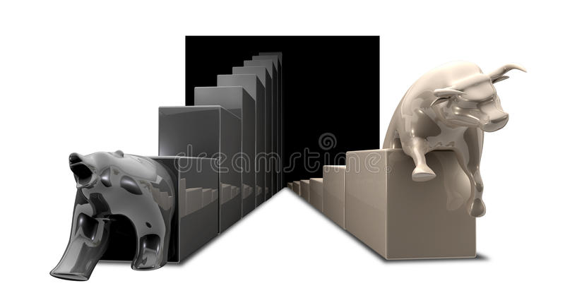 Download Bull And Bear Economic Trends Stock Illustration - Image: 26337363