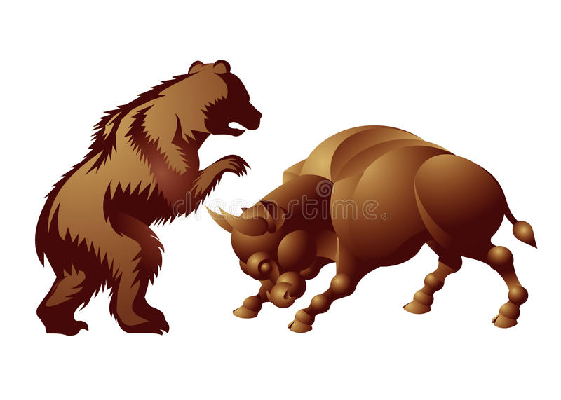 Download Bull, Bear, Market Trend Royalty Free Stock Photos - Image: 15129818