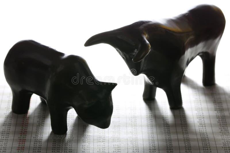 Bull and bear royalty free stock image