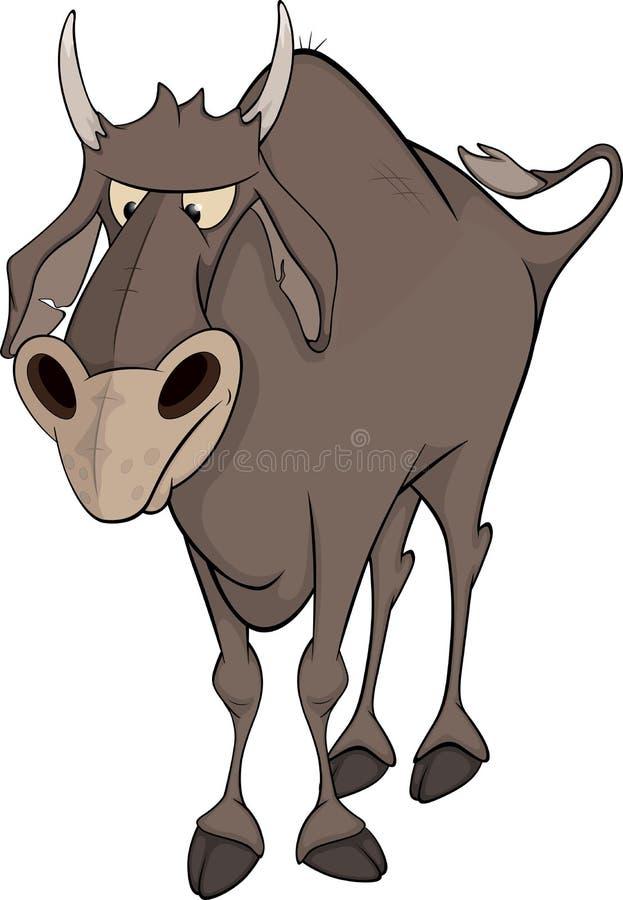Download Bull. Cartoon stock vector. Illustration of cartoon, drawing - 29498981