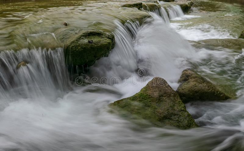 Waterfalls of the Bull Creek Greenbelt, Austin stock photography