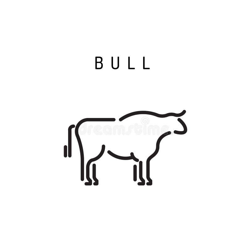 Bull design outline icon vector illustration