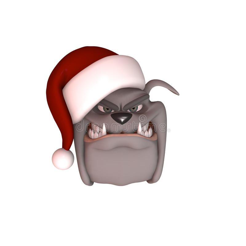 Download Bull Dog Wearing Santa Hat stock illustration. Image of isolated - 11263670