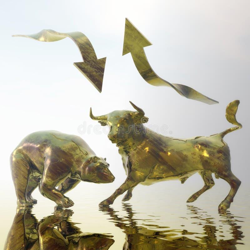 Bull ed orso illustrazione vettoriale