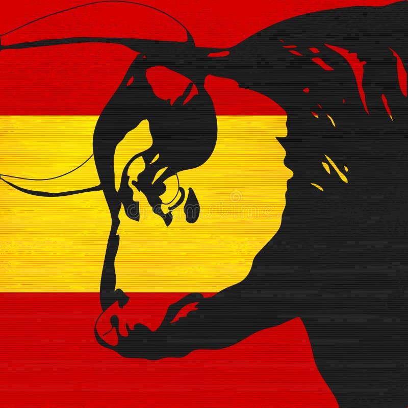Bull española stock de ilustración