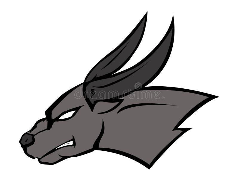 Bull fâché illustration stock