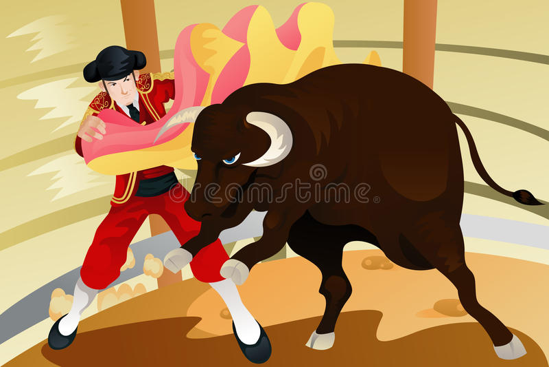 Bull Fighting Matador Stock Images - Image: 19352284