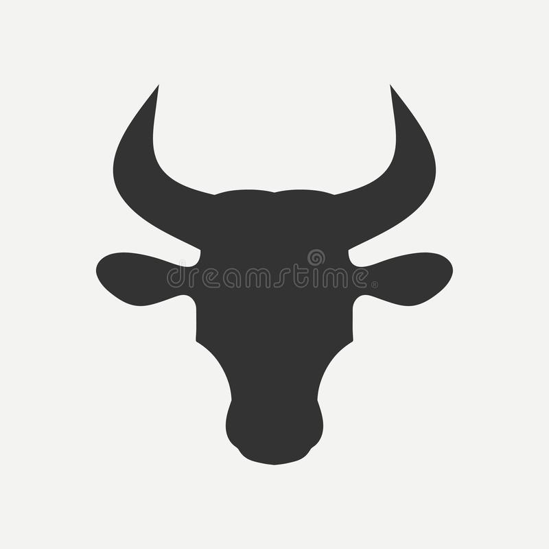 Free Bull Head Icon With Horns. Vector. Royalty Free Stock Photography - 105589687