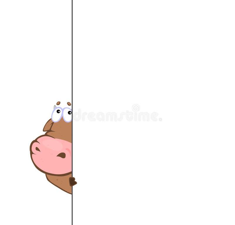 Bull hinter der Bank stock abbildung
