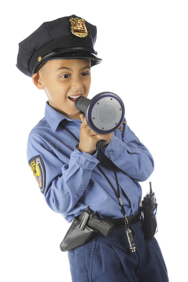 Bull Horn Cop royalty free stock image
