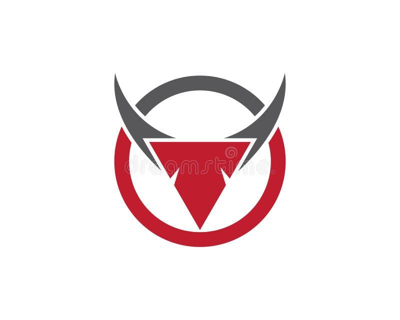 Bull horn logo and symbols template icons app stock illustration