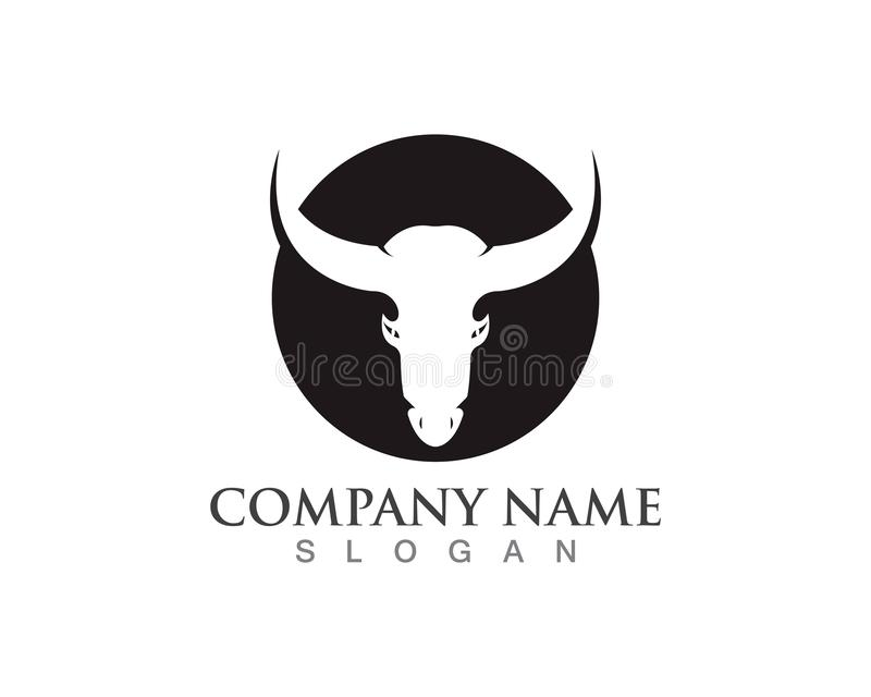 Bull horn logo and symbols template icons app stock illustration