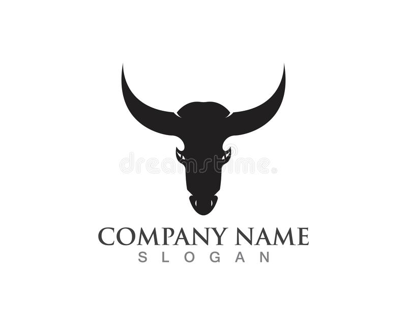 Bull horn logo and symbols template icons app.  royalty free illustration