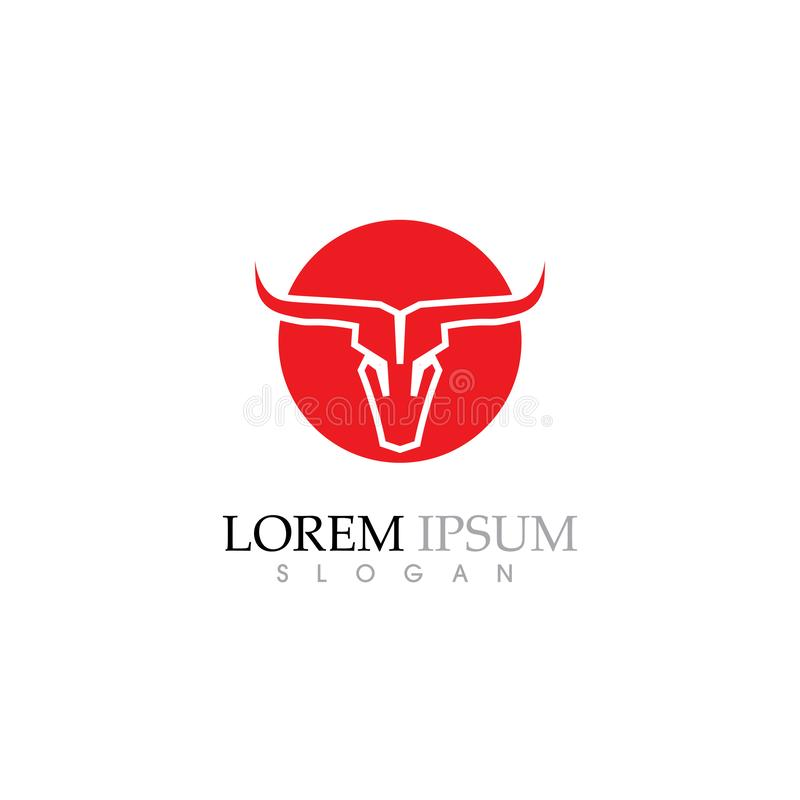 Bull horn  Logo Template vector icon illustration stock illustration