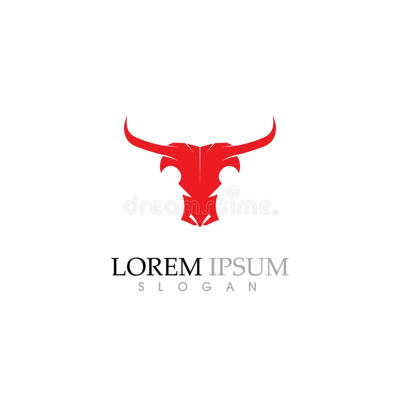 Bull horn  Logo Template vector icon illustration royalty free illustration