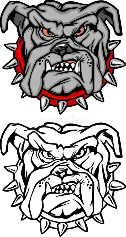 Bull-Hundemaskottchen-Zeichen stock abbildung
