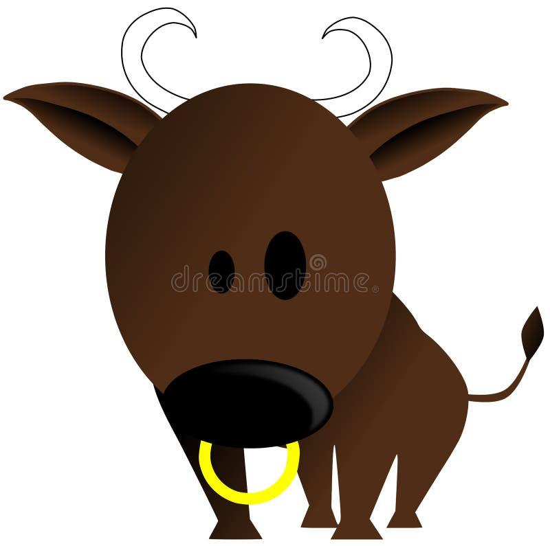nice Bull cartoon isolated royalty free illustration