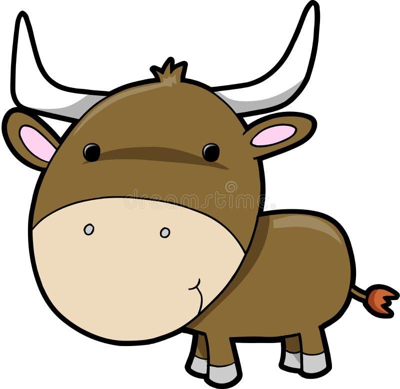 Bull-Kuhvieh Vektor vektor abbildung
