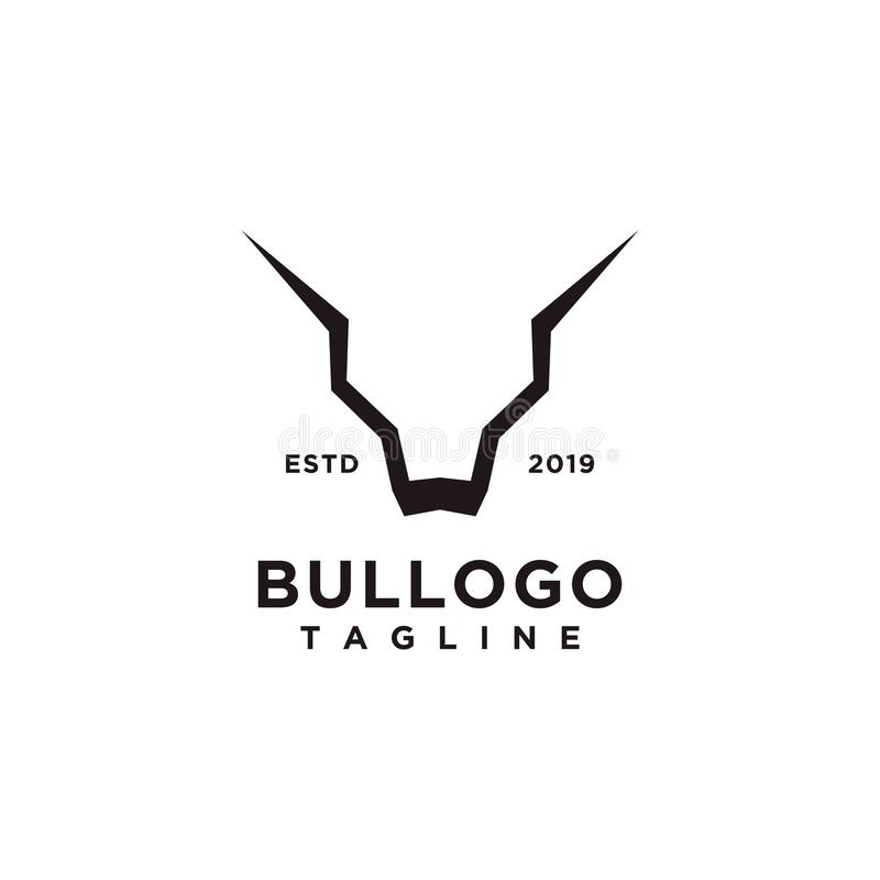 Bull logo design simple minimalist style for business or company brand vector illustration