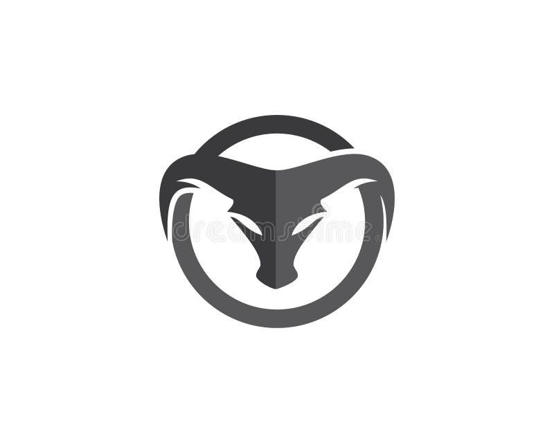 Bull Logo Template stock de ilustración