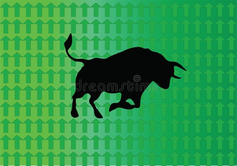 Bull market - il mercato sta aumentando illustrazione vettoriale