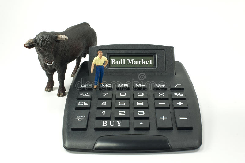 Bull Market! stock photos
