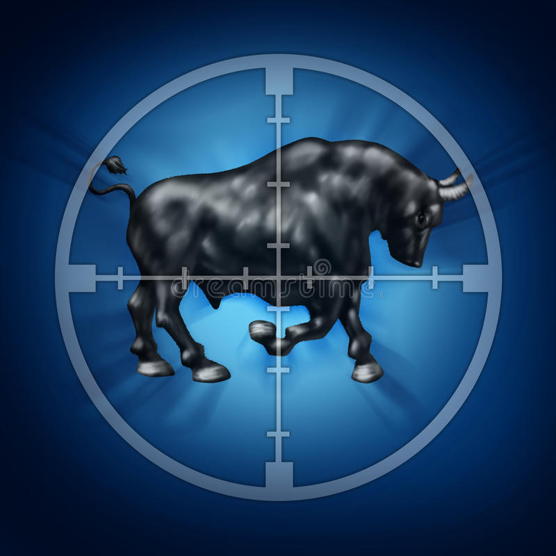 Bull Market Target royalty free illustration