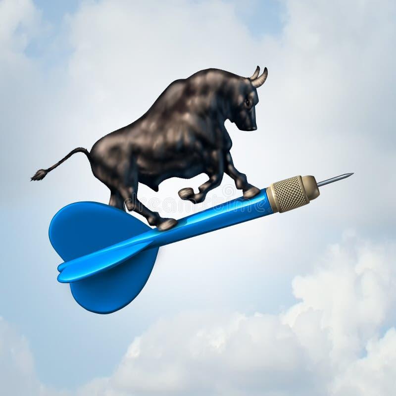 Bull Market Target stock illustration