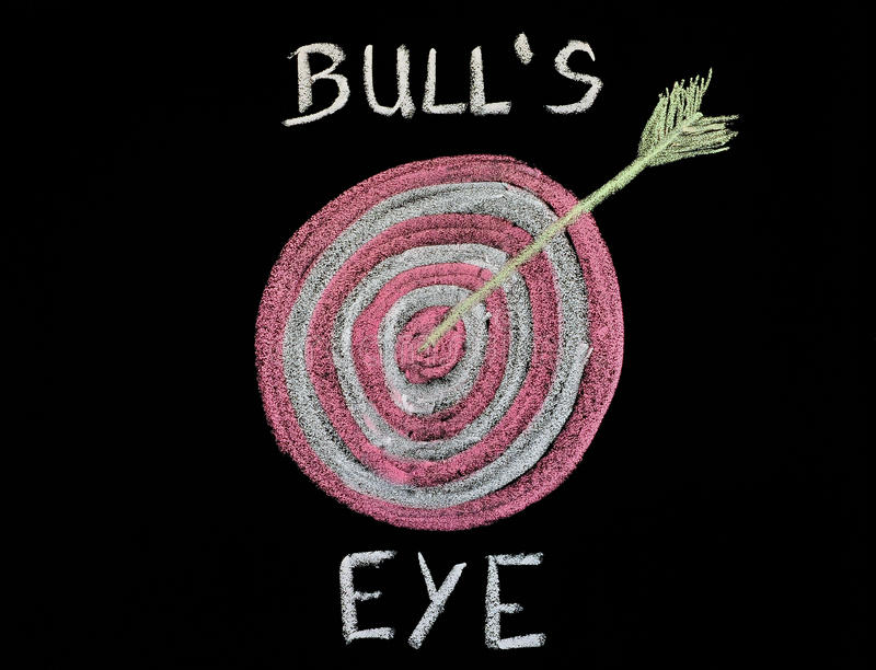 Bull, oeil, tableau, photographie stock
