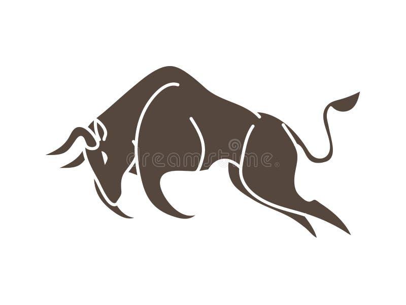 Bull que carga, vector gráfico del ataque de Bull libre illustration
