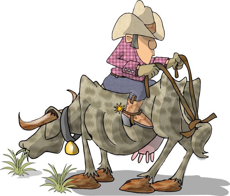Bull Rider royalty free illustration