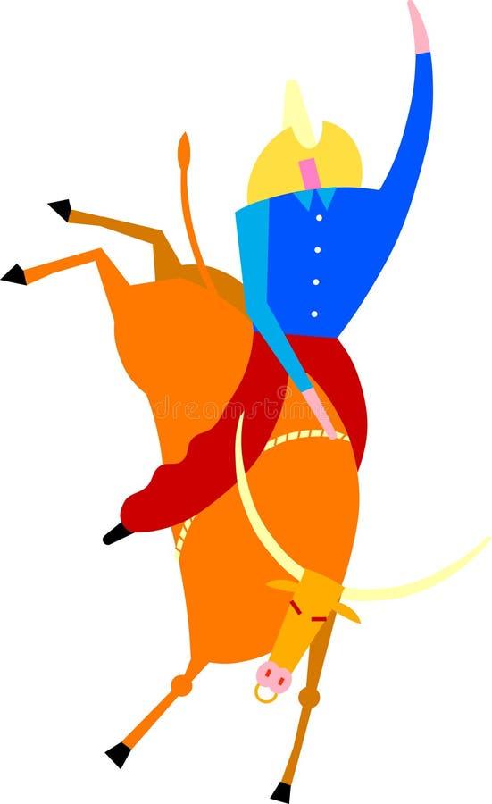 Bull rider vector illustration
