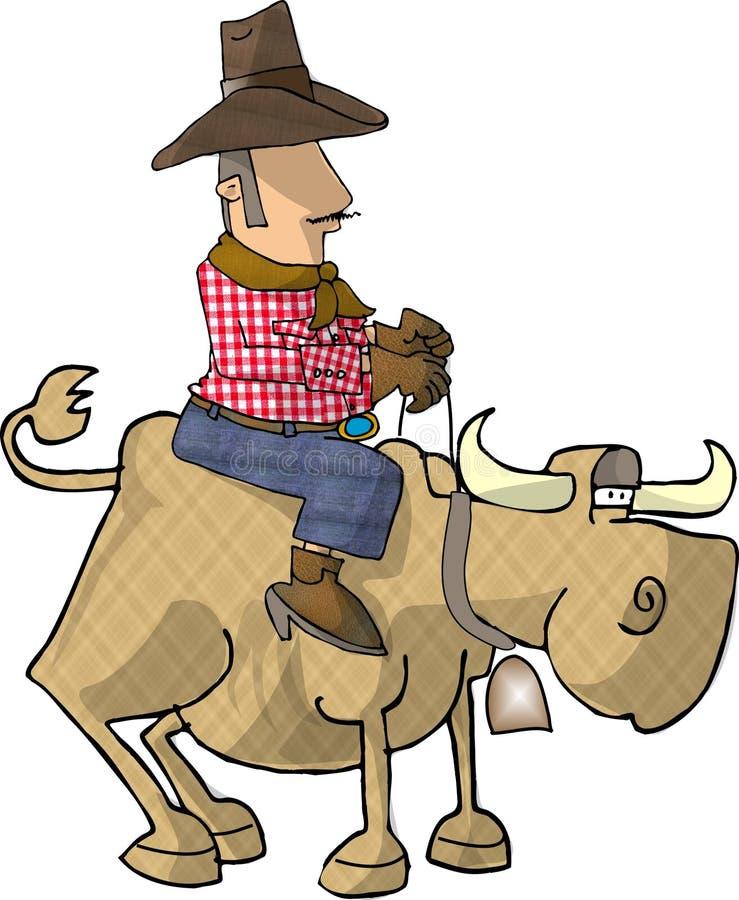 Bull rider stock illustration