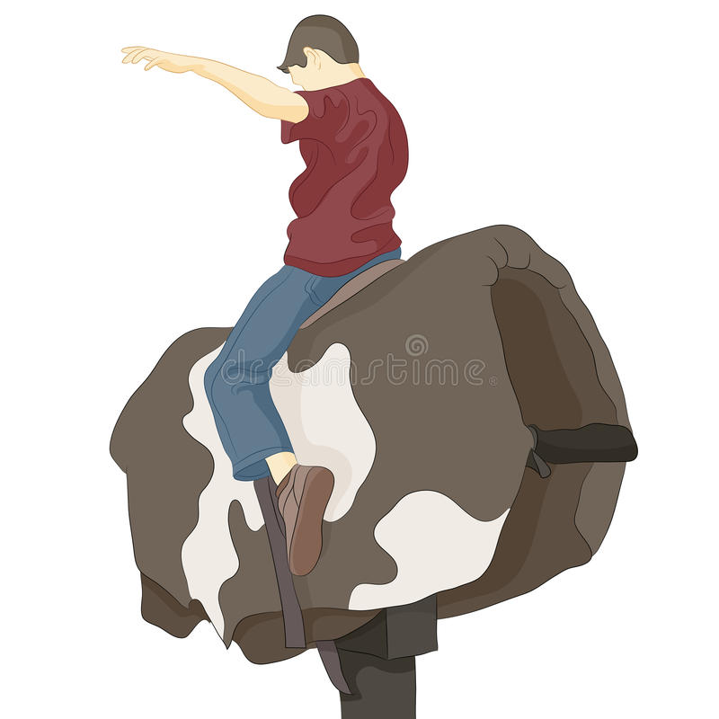 Bull Riding Man. An image of a bull riding man vector illustration