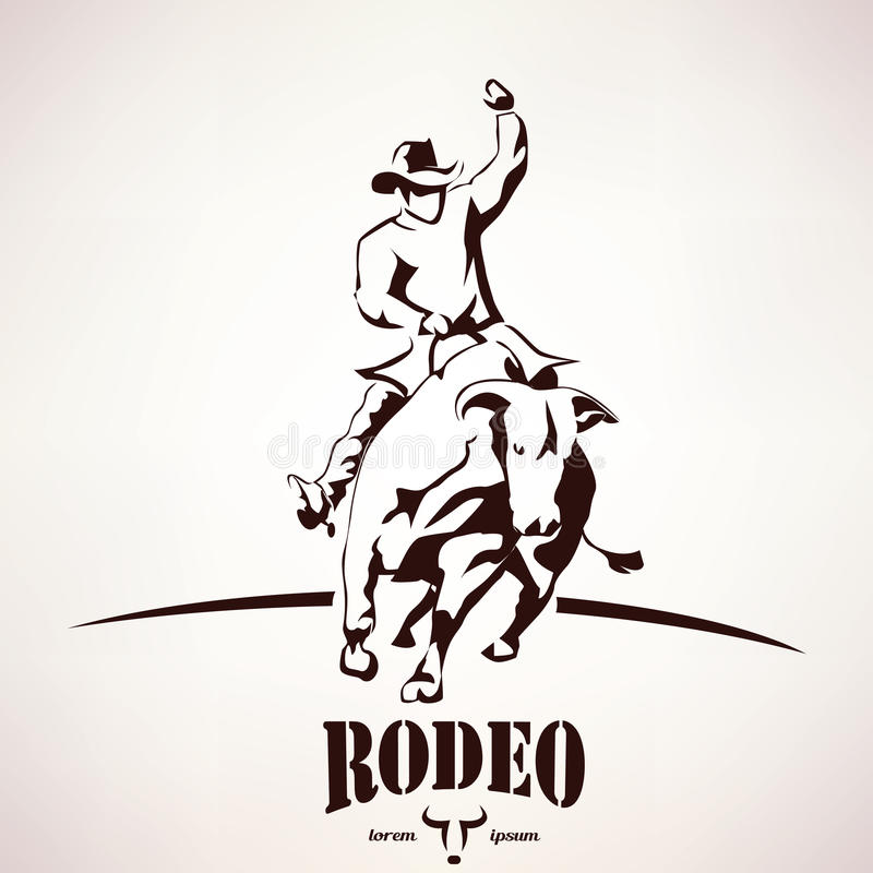 Bull rodeo symbol royalty free illustration