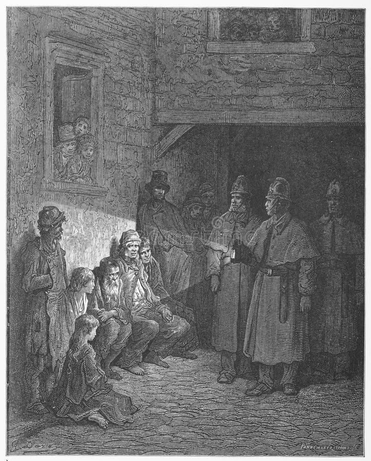 The Bull's Eye. Picture from Gustave Dore's London: a Pilgrimage illustrated book published in 1873, London - UK
